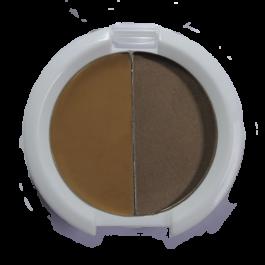 Kit para cejas café medio